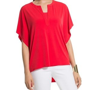 Chico's Notched Neck Boxy Top
